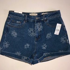 Pacsun floral mom shorts